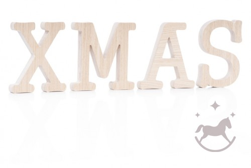 Bogstaver i træ XMAS