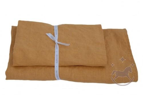Håndklæder i hør 2 stk, Orange peel