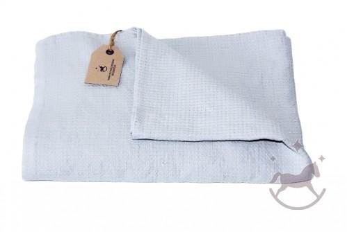 Badehåndklæde i hør, sølv