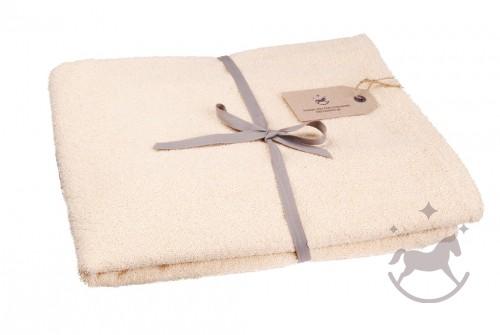 Badehåndklæde LISEL, elfenbensfarvet