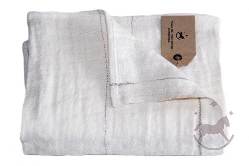 Håndklæde og gæstehåndklæde i hør,off white, Provence-N
