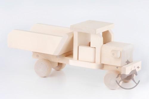 Lastbil med tippelad i træ