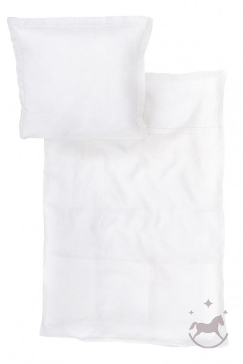 Sengetøj i 100% hør, hvid SNE
