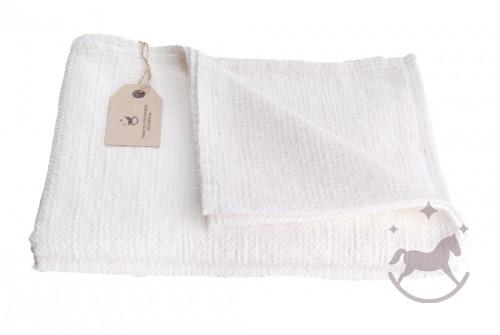 Badehåndklæde i hør, hvid