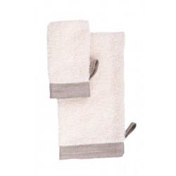 Massage handske i hør, hvid