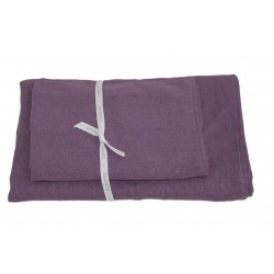 Håndklæder i hør 2 stk.,Purple