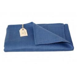 Badehåndklæde i hør, blå