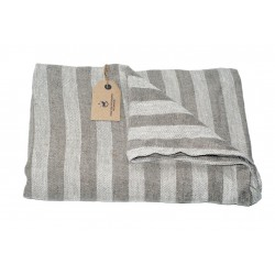 Badehåndklæde i hør, grå, LIKA