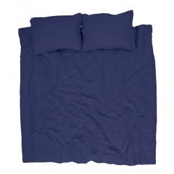 Sengetøj i hør, Blå