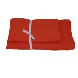 Håndklæder i hør 2 stk. Orange red