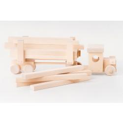 Tømmerlastbil i træ